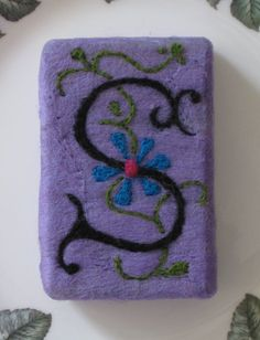 Monogrammed Soap Needle Felted Soap by RaisingTheBarSoap on Etsy
