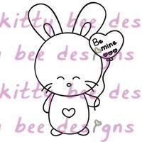 New Release - Heart Bun CLEAR Stamp Set I, nyuszi, szív