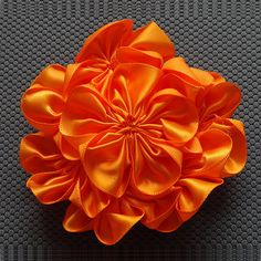 Hey, I found this really awesome Etsy listing at https://www.etsy.com/listing/153551672/satin-cluster-flowers-1-amazing-orange