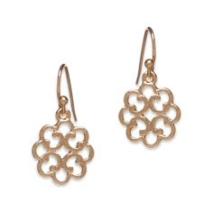 $18.00 The Claire goldtone scrollwork drop earrings have a gorgeous curved design that shows off the ornate cutout scroll detailing to perfection.