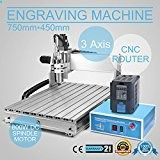 CNCShop CNC Router Engraving Machine Engraver Machine 6040Z 3 Axis Desktop Wood Carving Tools Artwork Milling Woodworking with 1.5kw VFD (6040Z 3 Axis)