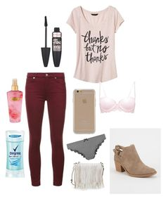 """""""Untitled #219"""" by savannahtaylor950 on Polyvore featuring 7 For All Mankind, Banana Republic, Maybelline, Agent 18, Accessorize, Degree, Victoria's Secret, Qupid and Rebecca Minkoff"""