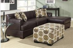 Chocolate leather sectional
