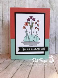 Color Block Card Using Varied Vases