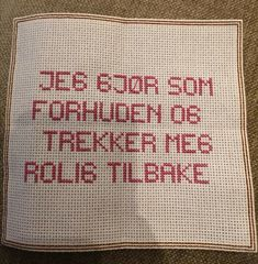 Guerrilla, Funny Pictures, Cross Stitch, Reusable Tote Bags, Spirit, Crafty, Embroidery, Humor, Words