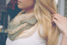 How to knit lovely gossamer infinity scarves.