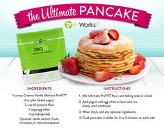 Delicious, healthy pancakes using It Works! ProFit. Order your ProFit today from www.allentotalwellness.itworks.com