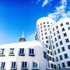 Last year with my boys @clementgit @virgileflores 💯 #frankgehry #dusseldorfarchitecture #dusseldorf 🍀
