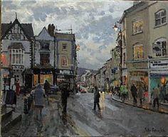 """Winter, Agincourt Square, Monmouth - Oil - 16"""" x 20"""""""
