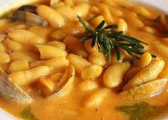 Receta de Guiso de Fabes con Almejas | Recetas de Cocina Fabes con almejas