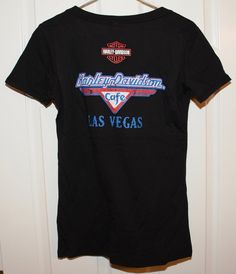 New Harley Davidson Cage Las Vegas Graphic Tee Shirt. Size: Woman's Large Color: Black Condition: New Graphics Condition: New Label: Harley Davidson Material: 1 Womens Vintage Tees, New Harley Davidson, Graphic Tee Shirts, Las Vegas, Last Vegas