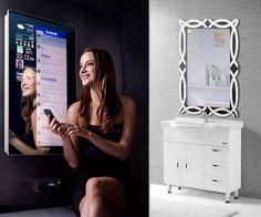 Cybertecture Mirror - Computer screen on mirror