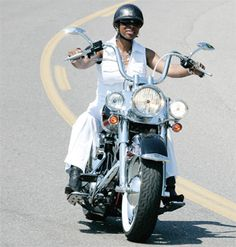 Hey V, Never get so busy making a living, that you forget to make a life ~ It's time you learn to Ride! Female Motorcycle Riders, Motorbike Girl, Black Harley Davidson, Harley Davidson Fatboy, Lady Biker, Biker Girl, Black Girl Riding, Old School Chopper, Biker Chick
