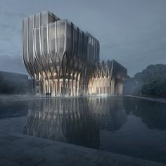 Zaha Hadid has unveiled designs for a new Cambodian institution made up of five interwoven wooden towers to house the largest archive of genocide-related documents in Southeast Asia