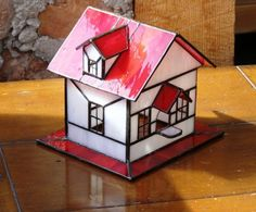 Red Barn Decorative Stained Glass Bird by GreenhouseGlassworks, $60.00