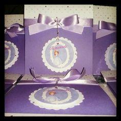 Convite artesanal Tema Princesa Sofia