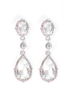 These elegant teardrops sparkle in the light, catching the eye of all that look…
