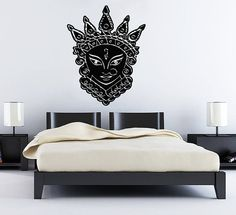 Wall Decals India Man Cat Crown Decal Vinyl Sticker Home Art Bedroom Home Decor Interior Design Art Mural Ms232