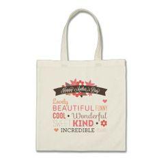 Happy Mother's day typography design Tote Bags