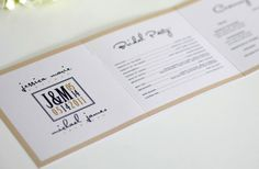 25 Memorable Wedding Programs from Etsy | OneWed