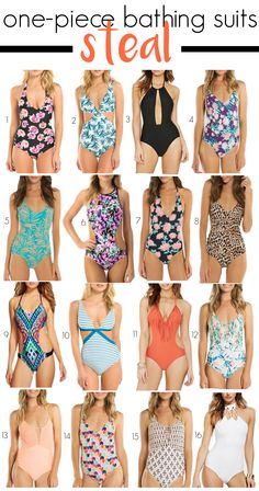 AMAZING one-piece bathing suit finds! These suits are serious steals!