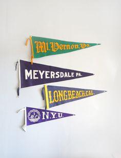 Vintage Meyersdale Pennsylvania Felt Pennant