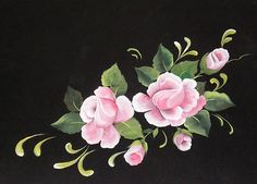 Disfruta pintando flores con pintura decorativa de pinceladas...