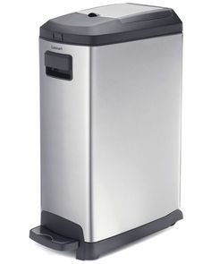 Cuisinart Stainless Steel 9gal Step Garbage Can
