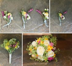 English spring wedding buttonholes and bouquet from Love My Dress