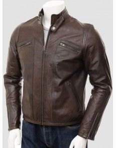 Motorcyclist Brown Leather Jacket