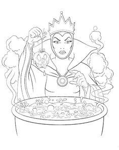 Evil queen snow white the 7 dwarfs pinterest evil for Coloring pages disney villains