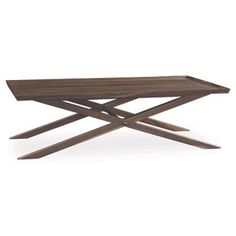 Check out this item at One Kings Lane! Elizabeth X-Base Coffee Table, Sepia