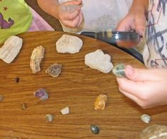 Rock and Roll: A Kindergarten Science Unit on Rocks and Soil from Kindergarten, Kindergarten...wonderful blog!!!