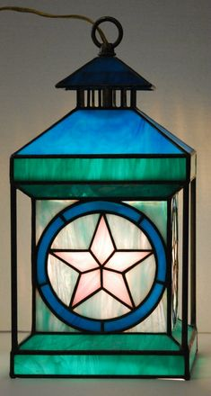 SuperStar Stained Glass Lantern  Unusual by DodgeGlassStudio, $450.00