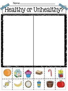 Healthy Body Sorting Activities for Preschool Pre-K Exercise/Not Exercise Sort Healthy/Unhealthy Food Sort Food Group Sort & More! Body Preschool, Preschool Activities, Preschool Programs, Wallpaper Flower, Healthy And Unhealthy Food, Healthy Bodies, Healthy Foods, Healthy Habits, Nutrition Activities