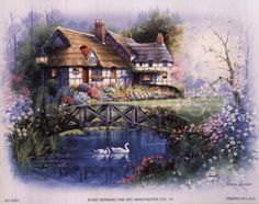 andres orpinas | Coutnry Cottages by Andres Orpinas art print