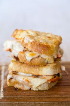 Parmesan-Crusted Lasagna Grilled Cheese Sandwich. The best thing I ever ate.   Recipe and photo by Jackie Alpers for refinery29