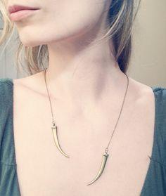 Daenerys Khaleesi Open Necklace in Classic Brass, Game of Thrones Jewelry