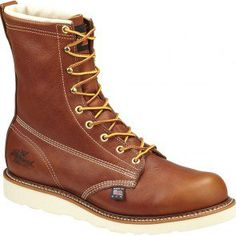 814-4009 Thorogood Men's WP Insulated Work Loggers - Tobacco www.bootbay.com