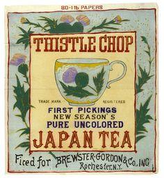 Label on exported Japanese tea | 作者不詳「輸出茶箱用蘭字ラベル」/