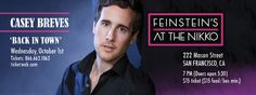 Casey Breves Live at Feinstein's at the Nikko, October 1st Tickets on sale now: http://tktwb.tw/1ufFSYw