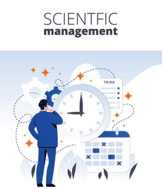 Scientific Management Theory by Taylor has four principles. First science, not rule-of-thumb; third cooperation, not individualism; fourth development of each and every person to his/her greatest efficiency and prosperity. Scientific Management, Economic Efficiency, Management Books, Applied Science, Human Behavior, Mechanical Engineering, Self Development, Infographic, Info Graphics