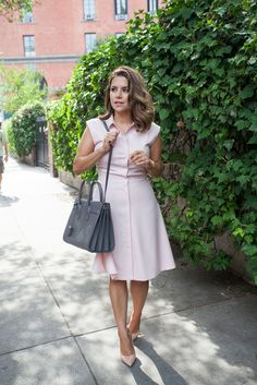 What to Wear to Work | Blush Pink Dress