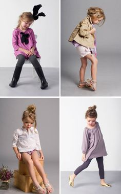 I'd want to have a little girl just so that I could dress her in these cute clothes by Nellystella... Love the colour palette! HECK i'd wear these clothes!