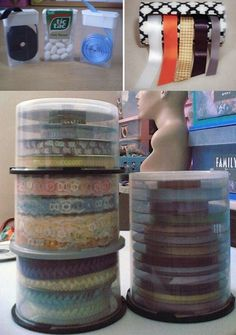 Reuse CD cases for ribbon storage so gift wrapping can be easy!