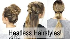 Here are 7 days, or 1 week, of heatless hairstyles! I planned a whole week of styles for you in this hair tutorial! Easy Heat less Curls with Flexi Rods: htt...