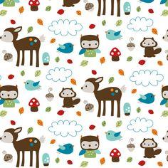 Woodsie Cuties fabric by misstiina on Spoonflower - custom fabric
