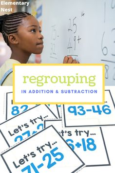 Learn more about teaching regrouping strategies in this grade math unit. There are anchor charts, activities, and other strategies to help students learn how to fluently add and subtract using regrouping strategies based on place value and operations. Teaching Second Grade, Second Grade Math, Subtraction Activities, Classroom Activities, Teaching Jobs, Student Teaching, Kindergarten Math, Math Class, Teaching Place Values