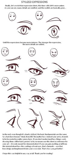 Stylized Expressions Reference Guide | Drawing References and Resources | Scoop.it