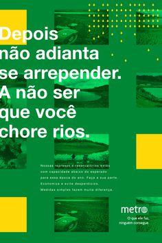 Metro Jornal Advertising, Ads, Marketing, Copywriting, Editorial Design, Social Media, Behance, Type, Journaling